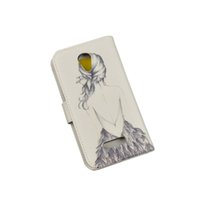 Wholesale White Canvas Painting Green - For Micromax Canvas Spark Q380 100% High Quality PU Leather Skin Cartoon Painting Pattern Flip Cover Case For Micromax Q380