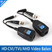 Wholesale Passive Video Power Balun - 1CH Passive Balun RJ45 CCTV Balun Video Balun Transceiver Supply Power For HDCVI HDTVI AHD Analog High Definition Camera