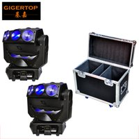 2IN1 Roadcase Pack 2x CREE RGBW 4in1 LED Beam Moving Head Spider Flying DJ Disco Lumière Pan Spider Endless Rotate Wedding Light