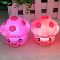 Wholesale Led Novelty Lamp Changes Colors - Wholesale-Mushroom Shaped Led Novelty Lamp Colorful Changing Colors Lamp Flashing Toy PA0069
