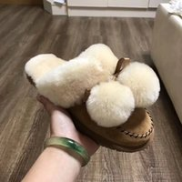 Wholesale Natural Flat Shoes - 2017 winter New style high quality Australia women real natural feather fur winter slippers slides women indoor outdoor flat shoes