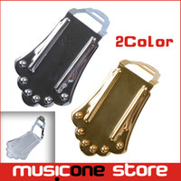 Wholesale Gold Guitar Jazz - A Set Jazz Guitar Bridge for Hollow Semi Hollow Electric Guitar - Chrome Gold for choose