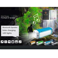 Wholesale Solar Mp3 Player - Multifunction MP3 Players Bluetooth speaker FM Radio TF card Headlights and side lights Solar  USB charge