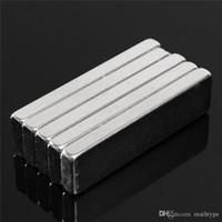 Wholesale Magnet Rectangle - 10pcs 40 x10 x 4mm N52 Block Magnet Rare Earth Neodymium Permanent Magnets Rectangle Bar Fridge 40mm x10mm x 4mm Magnet