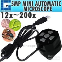 MAC-500 Professional Handheld Mini Microscope Auto Focus Zoom de câmera 5MP USB 12x ~ 200x