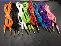 Wholesale Headphone Extension Cable Cellphone - 1M Audio AUX Cable For cellphone 3FT 3.5mm Male to Male Headphone Replacement Audio Extension AUX Cables MP3 MP4 High Quality