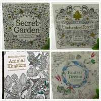 Wholesale DHL Secret Garden Coloring Book Painting Drawing Book Pages Animal Kingdom Relieve Stress For Children Adult Christmas Gifts JC105