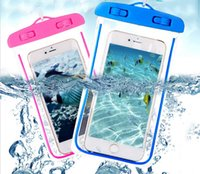 Wholesale Glow Case Iphone 4s - Glow in the Dark Waterproof Case Mobile Cell Phone Case Dry Bag Pouch for iphone 7 Plus 6S Plus 5S 4S