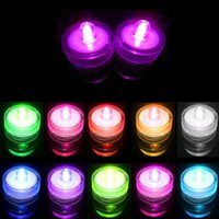Wholesale Submersible Waterproof Wedding Floral Decorations - Top quality 100% Waterproof LED Candle Wedding Decoration Submersible Floralyte LED Tea Lights Party Decoration LED Floral Light 500pcs