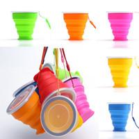 bouteilles d'eau pliables pliables achat en gros de-Tasse pliable boisson tasse tasse voyage tasse d'eau silicone voyage en plein air bouteille d'eau bouteille pliable boisson tasse tasse d'eau en stock WX-C51