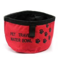 Wholesale Camping Food Containers - Outdoors Portable Pet Bowls Oxford Cloth Dog Bowl Folding Waterproof Pet Food Water Container for Carrying Pets Travel Camping