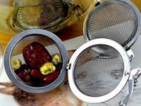 hot pot grátis venda por atacado-100 pc Quente De Aço Inoxidável Bule de Chá Infusor Sphere Bola de Malha De Chá Bola DHL FEDEX frete grátis