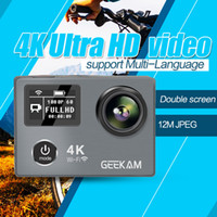 Wholesale Top Inch Tablets - 4k sport camera Go Pro Style Camera Top 4K Full HD 1080P With WIFI K8R Control Phone Tablet PC 30 meters Waterproof Cameras