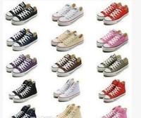 ingrosso pattini di marca di stile-Brand new star big Size 35-45 High top Scarpe casual Low top Style stelle sportive chuck Classic Canvas Sneakers Scarpe da uomo / Scarpe di tela da donna