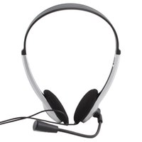 microfone laptop skype venda por atacado-Barato 3.5mm Plug Gaming Fone De Ouvido Fone De Ouvido com Microfone MICROFONE VOIP Skype Fone de Ouvido para PC Computador Portátil # 21228