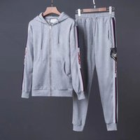 Wholesale Men Longsleeve - 2018 Free shipping new classic fashion designer high quality real photo men cotton longsleeve tracksuit m-2xl 001