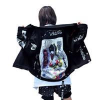 Wholesale punk patch clothing for sale - 2017 Autumn Men s Clothing Patch Designs Denim Jacket High Street Hip Hop Punk Vintage Graffiti Cowboy Coat motorcycle Outwear