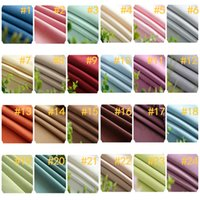 Wholesale curtain door rod - Bulk 24 Colors Thicken Soft Linen Upholstery Curtain Sofa Cushion Material Fabric Curtains for Living Room Bedroom Windows Luxury Home Decor