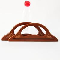 Four Piece Two Pairs Size 30.5 CM Brown Wood Handle Bag Wood Frame Purse  Handle Hanger Parts China Wholesale DIY Accessories 242d658145bb8