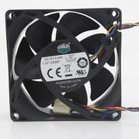 4pin cpu fan großhandel-Neue original Kühler Master FA08025M12LPA 8025 80 MM 8 cm 80 * 80 * 25 MM Computergehäuse CPU Lüfter 12 V 0.45A Lüfter mit PWM 4pin