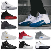 Wholesale Mens Basketball Shoes Sale - Hot sale 12 XII mens basketball Shoes men french blue playoffs taxi wool flu game University blue wolf grey sports Sneaker size 8-13