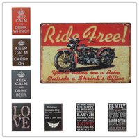 Wholesale house keeping - Keep Calm Drink Beer Love Family Motorcycle Vintage metal Retro Tin sign Art wall decoration House Cafe Bar Vintage Metal craft