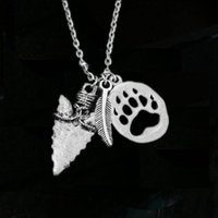 0ad73e7f2426 12 unids   lote punta de flecha collar de garra de oso garra americana india  flecha collar de plumas joyería nativa americana