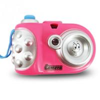 câmera digital menina venda por atacado-Meninas do bebê Meninos Brinquedo Crianças Câmera de Projeção Brinquedos Educativos Camara de juguete Crianças Câmera Divertido Presente 2017