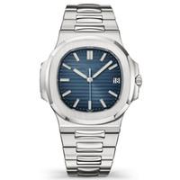 relógios de mergulho venda por atacado-Automático de Luxo Assista Novo Mens Calendário Automático 40mm Assista Men Sport Dive Full Steel Nautilus Auto Data Clássico Relógios