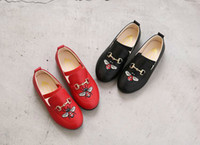 Wholesale girls pearl dress shoes for sale - Group buy 2018 New Arrival Designer Dance Toddler Girls Shoes Kids Shoes Horse Bit Buckle Embroidery Luxury Shoes Spring And Autumn Children Gift