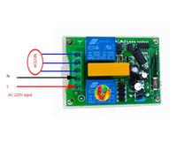 transmissor 2ch rf venda por atacado-AC 220 V 2CH RF Interruptor de Controle Remoto Sem Fio 1 Transmissor, 1 receptor da porta da garagem do motor tubular 433 MHZ ou 315 mhz universal
