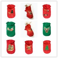 Wholesale wholesaler teddy jacket - Wholesale 4 size dog clothes high quality teddy bichon Christmas clothes cotton sweater dogs apparel 8 styles pet decoration dog supplies