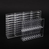 Wholesale acrylic make up storage resale online - New Clear Grids Make Up Organizer Acrylic Cosmetic Makeup Bracelet Holder Large Storage Box Jewelry Shelf Escritorio
