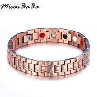 ingrosso catene germanio-Chunky Chains Medical Bracciale per uomini germanio magnetico energia equilibrio salute rame gioielli maschile festa del papà regalo