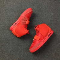 Wholesale red octobers - 2018 Air II SP Red October Baskeball Shoes Kanye West With Dust Bag And Box Men Fashion Athletics Sneakers Newest