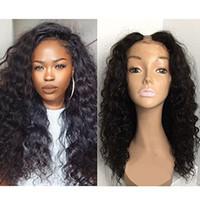 dalga saç stili toptan satış-U Parçası İnsan Saç Peruk Derin Dalga Saç Tutkalsız Perulu Saç Upart Peruk Siyah Kadınlar Için Derin Dalga U Parçası Peruk Bakire Saç