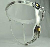 kadın namus kilitleri toptan satış-Tamamen Ayarlanabilir Paslanmaz Çelik Kadın Bekaret Kemeri Metal Cihaz Kablo Kilidi # R45