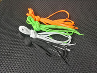 orange schnürsenkel großhandel-OFF Schuh SHOELACES 4 Farbe Schnürsenkel Schwarz Weiß Grün Orange Schnürsenkel Teile Zubehör Spitze OFF Schuhe Spitze
