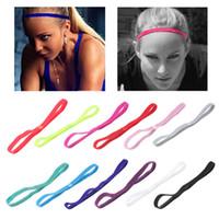 venda deportiva de futbol al por mayor-12 colores venda del pelo popular cuerda elástica deportes anti yoga diadema de fútbol antideslizante moda accesorios para el cabello GGA837