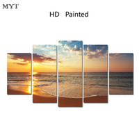 Wholesale Group Oil Paintings - MYT New Arrival No Framed Printed Sea View Poster Group Painting children's room decor print poster picture canvas Free shipping