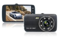 """Wholesale remote control viewing - 1080P full HD car DVR camera 4"""" Inch screen 170° view angle starlight night vision 2Ch dual cams parking monitor motion detection G-sensor"""