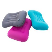 inflatable rectangle travel pillow UK - Ultralight Foldable Travel Office Neck Inflatable Pillow Self-Inflatable Air Body Back Cushion Lunch Break Pillow
