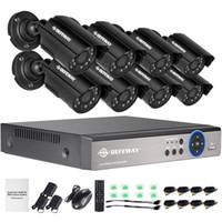 система 8ch cctv оптовых-Полный defeway 1200tvl сетноая 720р HD открытый видеонаблюдения камеры системы безопасности 8-канальный 1080N с HDMI видеонаблюдения DVR комплект 8-канальный AHD камеры комплект