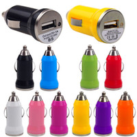 Wholesale bullet mini charger online – Bullet design Car Charger Mini Single USB Car Auto Charger Adapter For iPhone Android HTC Samsung Huawei
