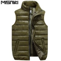 Wholesale weighted collar - Wholesale-2017 new arrivals fashion men winter vest coat light weight hooded collar male outerwears M-5XL AXP14