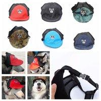 köpekler güneş şapkaları toptan satış-6 stilleri Köpek Beyzbol Şapkası visor şapka Yaz Nefes Pet Plaj Güneş Bonnet Örgü Köpek Seyahat Açık Vizör Şapka FFA620