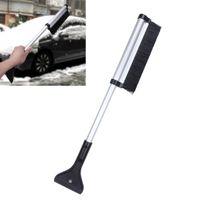 Wholesale car spade - Snow Brush Ice Scraper Car Windshield Sonw Ice Shovel Spade Scoop Vehicle Window's Aluminium Extendable Snow Dust Remover