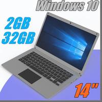 laptops de 14 polegadas intel venda por atacado-Frete Grátis 14 polegada mini laptop computador Windows 10 2G RAM 32G emmc Ultrabook laptop tablet com menor preço