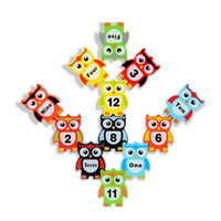 Wholesale wooden blocks children - Children Wooden Learning Education Balance Building Block Toy Bricks Early Childhood Owl Beneficial Intelligence Toys 11 5cw W