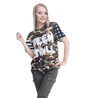 trilles tees achat en gros de-T-shirt femme Moro Been Trill Camouflage 3D Full Print Girl Taille libre Stretchy Casual Tops Lady Manches courtes Tee Shirt Blouse (GL36373)